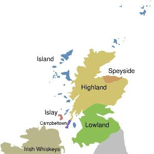 Whiskey Producing Regions of Scotland